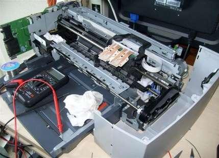 Лазерный МФУ в ремонте